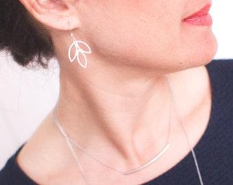 DESTASH earrings leaves