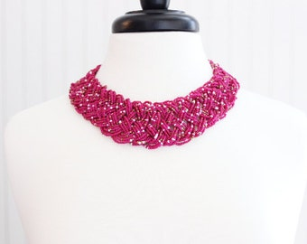 Berry Beaded Chunky Necklace