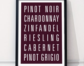 WINE Subway Art Print - Customizable