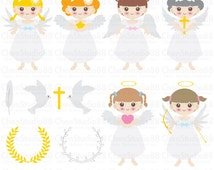Angel vector - Digital Clipart - Instant Download - EPS, PNG files included
