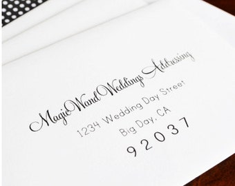 Envelope Guest Addressing for Save the Date Cards and Rehearsal Dinner Invitations (Sold in sets of 25)