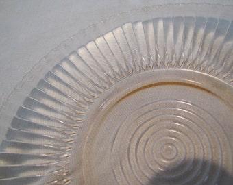 Pink Petalware Large Plate Cake Plate Platter by MacBeth Evans
