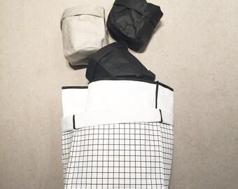 Washable Paper Storage Bag - Large Grid Print