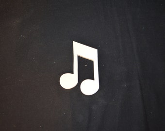 Hand Crafted 5 Inch Wooden Single Music Note