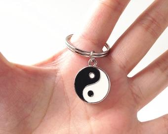 Yin Yang Keychain,Zen Keychain,ying yang,boho keychain,Ying Yang Keychain,Zen Keyring,yin yang,spiritual gifts