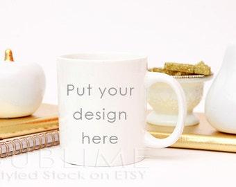 Mock Up / Mug Mock Up / Blank Mug / Coffee Cup / Product Mock up / Styled Stock Photography / JPEG Digital Image / StockStyle-473