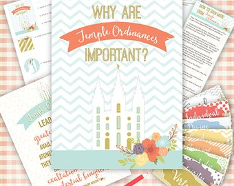 July {Come Follow Me} Why are Temple Ordinances important?  Teaching Package