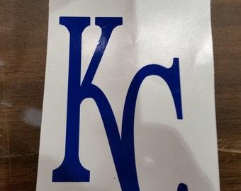 Kansas City Royals Decal,Kansas City Royals  baseball decal, KC decal, Pick your color
