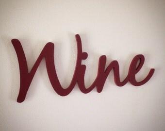 WINE word art cutout