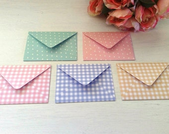 Handmade envelopes and greeting cards —  a set of 5