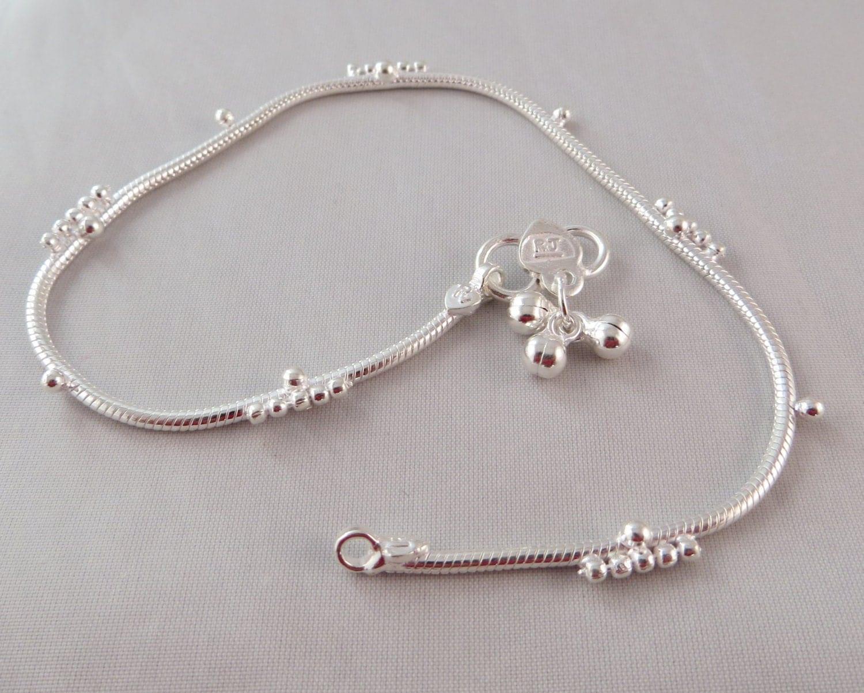 Anklet Anklet bracelet sterling silver anklet women by ...