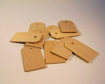 Wood Tags - Set of 10 - 2 1/4 inch