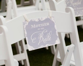 Chair Sign, Reserved Seating, Mother Of The Bride, Wedding Seating, Reserved, MOB, Reserved Family Seating, DOWNLOAD, Wedding Sign