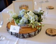 Rustic Wedding Centerpiece - Wood Round Centerpiece - Tree Slice - Rustic Wood Tree Trunk - Natural Wood Slice - Tree Slice Centerpiece