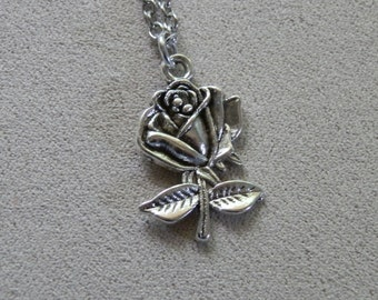Necklace, Doctor Who, Rose Charm Pendant