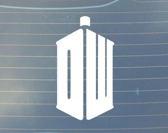 Doctor Who Classic DW Tardis Car Decal