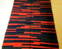 Unique Striped Rug Related Items Etsy
