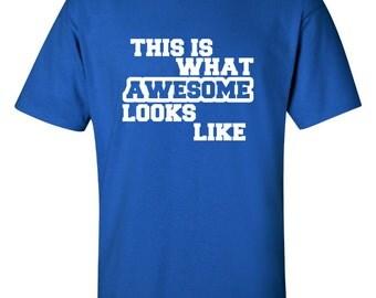Awesome Looks Like - Custom Cotton Short Sleeve T-Shirt for Men, Women, Children