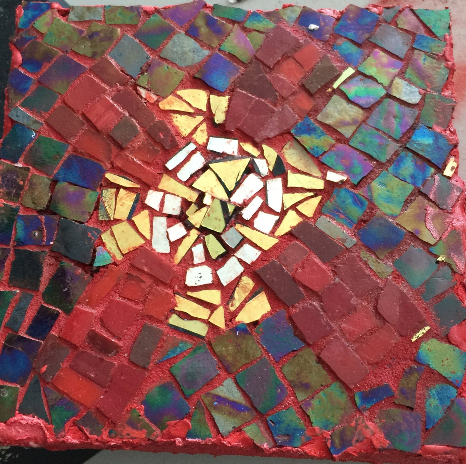 Mosaic Panel With Celtic Cross Celtic Cross Is Symbol With C