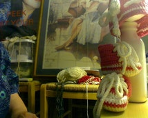 Crochet All Star Chuck Taylor High Top baby tennis shoes