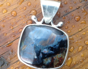 Pietersite Pendant ONLY. Handcradted by me. Comes on leather cord.