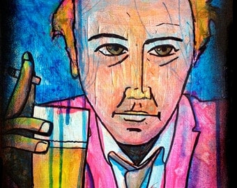 Doug Stanhope, from THE WISE GUYS series of paintings