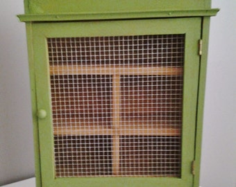 Vintage Handcrafted  Wooden Cabinet