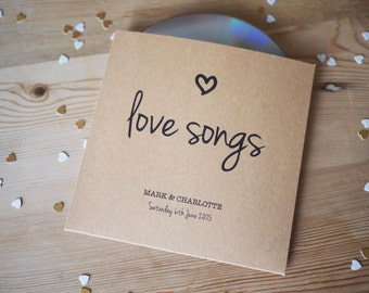 10x personalised CD cover / sleeve wedding favour for music lovers or music theme