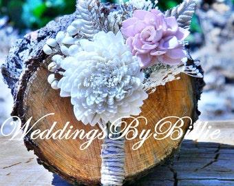 Weddings, Bridal Accessories, Groom, Pink Ivory Boutonniere, Alternative Boutonniere, Boutonniere,Sola,Groomsmen,Wedding Flowers, Buttonhole