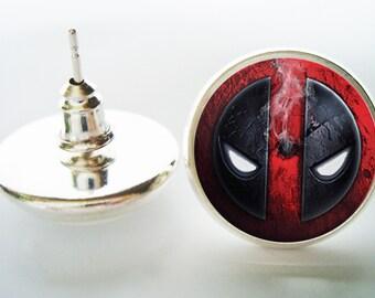 Superhero Superheroes earrings, Superhero jewelry, men's earrings, Custom Personalized earrings jewelry, photo earrings, image earrings