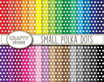 polka dot digital paper,digital paper,polka dot paper,scrapbook paper,instant download,polka dot digital,digital paper pack,polka dot,