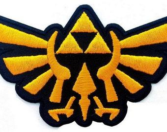 Legend of Zelda Hyrule's Royal Crest Gold Logo Applique Patch