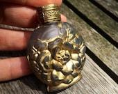 Vintage 1920s Art Nouveau Czech Glass Decorative Perfume Bottle