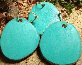 Wooden Aqua Memo Board....