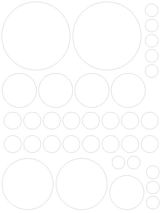 White Polka Dots Shaped Decals great for Teen, Kids, Baby, Nursery, Dorm Room Walls - Removable Custom Made - Super Easy to Install