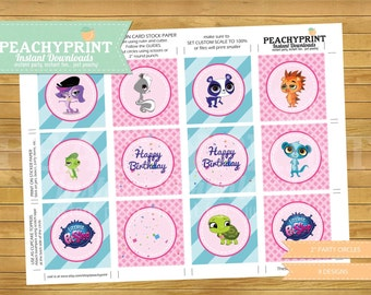 Littlest Pet Shop 2 inch Party Circles Instant Download