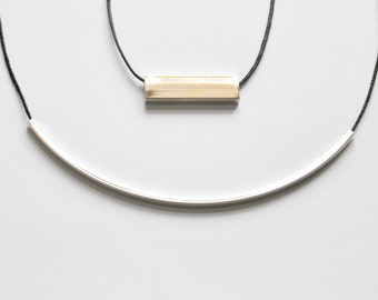 square tubes - 14 yellow gold or white gold