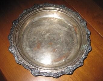 Vintage ornate silverplate dish