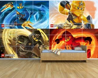 New - Lego Ninjago - Giant Wall Art Set - 2.5m x 1.5m