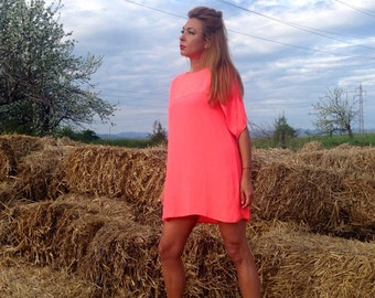 Dress/coral dress/tunic/coral tunic/party dress