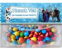 Disney Frozen Favor Bag Topper - Disney Frozen - Frozen Birthday - Instant Download