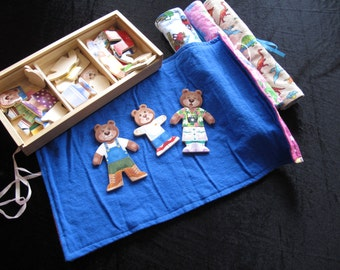 Roll Up & Go Felt Board for Tray Tasking Mat approx 19 x 12.5 inches, felt story, quiet time, tray task, ECE, Montessori, Daycare, Preschool