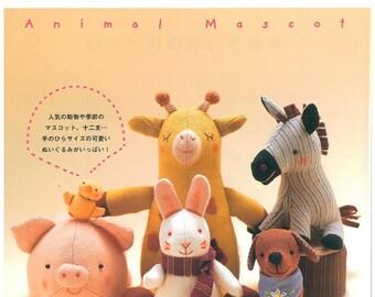 Japanese WakuWaku Animal Land Adorable Mascot Toys Sewing Patterns ebook A0110 Instant download pdf