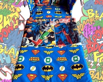 NEW Justice League Cot BEDDING SET - Batman Superman Super Heroes - Exclusive