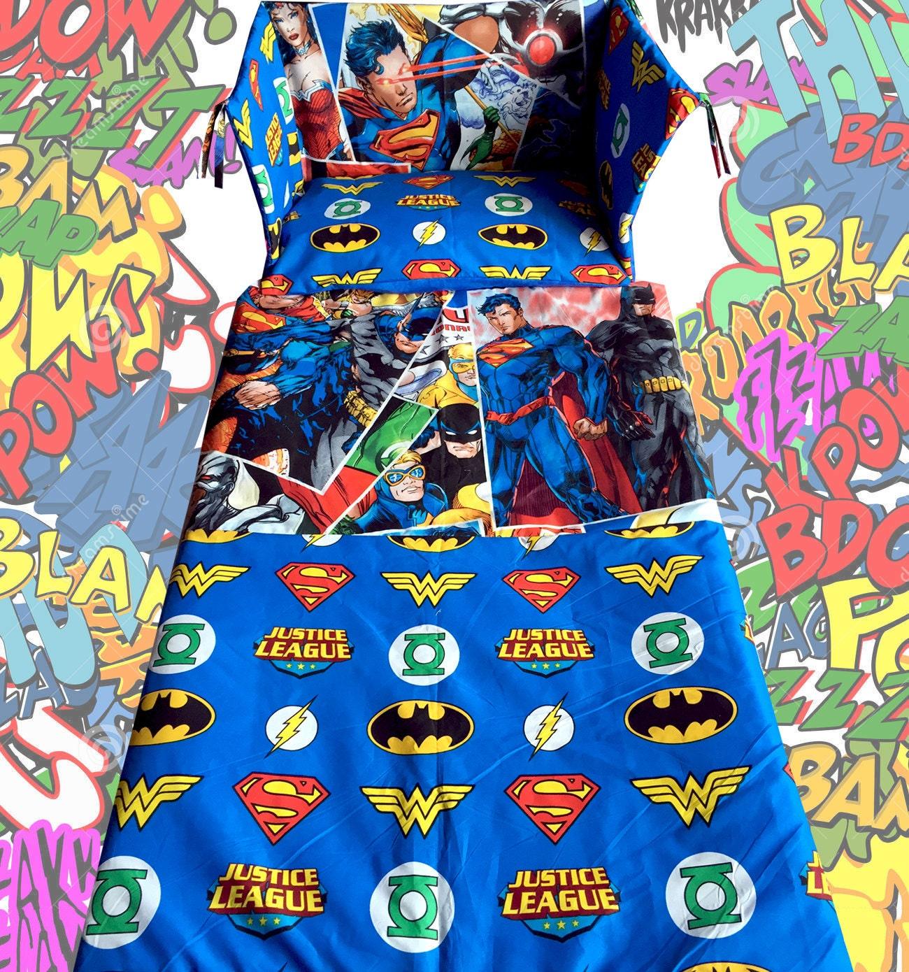 Vintage superhero bedding - New Justice League Cot Bedding Set Batman Superman Super Heroes Exclusive