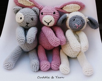 SPECIAL OFFER Crochet Animals, 2 Crochet Soft Toys of your choice, Newborn Gift, Newborn Stuffed Toys, Newborn Photo Prop.