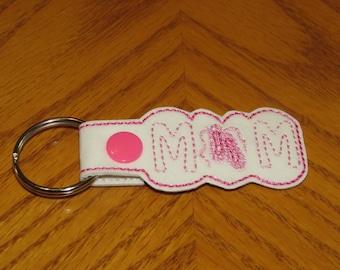 Ballet Dance Mom Snap Tab Key Chain