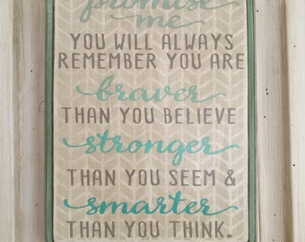 Inspirational Quote, Christopher Robin, Winnie the Pooh - 9x7 Wood Plaque, Wood Sign, Home Decor, You Are More Amazing Than You Know , Ombre
