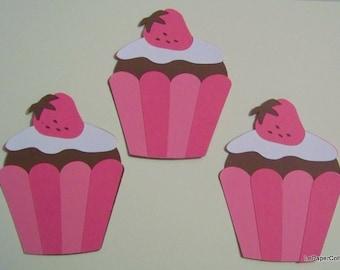 Chocolate strawberry cupcake die cuts