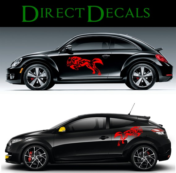 tribal wolf car decal sticker vinyl decal sticker by. Black Bedroom Furniture Sets. Home Design Ideas